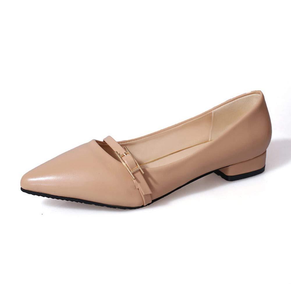 QINGMM Frauen Einfache Spitze Flache Schuhe Mode Freizeitschuhe Pendler Arbeitsschuhe