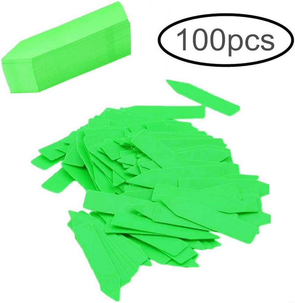 100Pcs Plant Markers Labels, Waterproof Tags Garden Labels Seed Nursery Garden Stake Little Tool Gardening Accessories (Pencil-Type, Green)