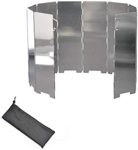 High Quality 10 Plates Camping Cooker Gas Stove Wind Shield Foldable Outdoor H/&S
