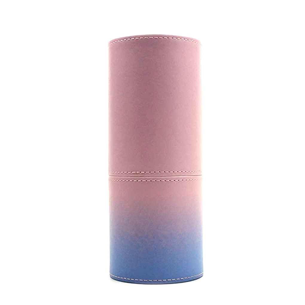 Providethebest PU-Leder-kosmetische Bürste-Cup-Behälter-Kasten-beweglicher Spielraum-Verfassungs-Bürsten-Round Pen-Halter-Organisator-Verfassungs-Werkzeug