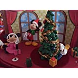 Animated Musical Disney Mickey Minnie Mouse and Friends Christmas Diorama