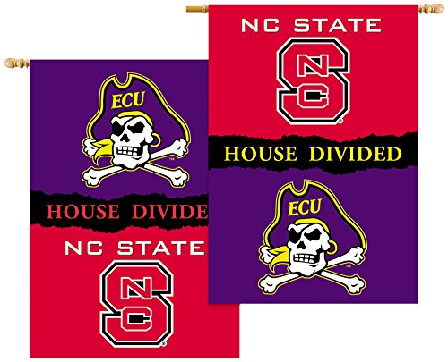 Pole Sleeve House - NCAA North Carolina State Wolfpack 2-Sided 28 x 40-Inch Banner with Pole Sleeve House Divided, Team Color