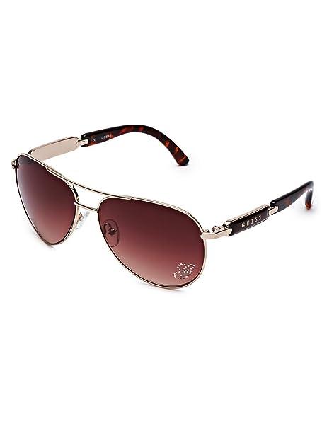 Amazon.com: G By Guess Mirrored Aviator anteojos de sol de ...