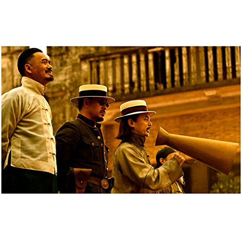 Let the Bullets Fly 8Inch x 10Inch Photo Chow Yun-Fat Smiling Ge You w/Megaphone & Jiang Wen kn