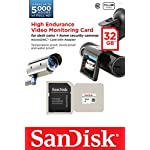 SanDisk High Endurance Video Monitoring Card with Adapter 32GB (SDSDQQ-032G-G46A) 5 Ideal for dash cams and home video monitoring cameras Specially developed for high endurance applications Up to 5,000 hours of Full HD video recording