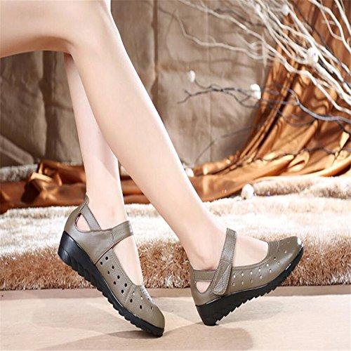 Sandalias Hueco Tqw1rpfg Zapatos Enfermera Femenino Brown xw80qF8v