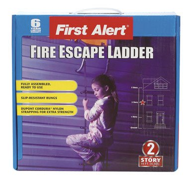 First Alert EL52-2 Two-Story Fire Escape Ladder, Steel, Anti-Slip