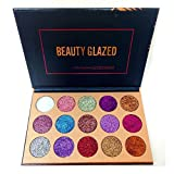 makeup Beauty Glazed Eyeshadow Palette Ultra Pigmented Mineral Pressed Glitter Make Up Eye Shadow Powder Flash Colors Long Lasting Waterproof 15 Colors
