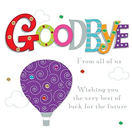 Amazon goodbye from all of us greeting card 8 square handmade goodbye from all of us greeting card 8quot square handmade leaving cards m4hsunfo
