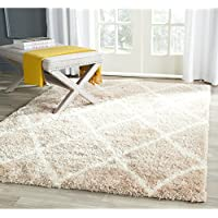 Safavieh Montreal Shag Collection SGM831C Beige and Ivory Area Rug (8 x 10)