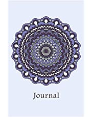 Journal: Flower Mandala (Purple) 6x9 - DOT JOURNAL - Journal with dot grid paper - dotted pages with light grey dots