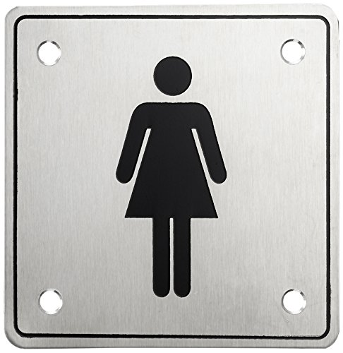 HSI 'Door Sign Women with Screw Stainless Steel 100x 100x 1(Pack of 1) 966225.0 by HSI