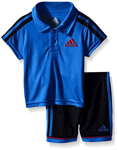 adidas Baby Boys' Pitch Short Set, Shock Blue, 24 Months (Adidas 3 Stripes Mesh Short)