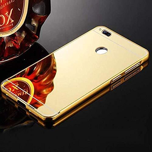 brand new 135dc 9324b TheGiftKart Redmi 4 Mirror Back Cover with Metal Bumper (Golden)