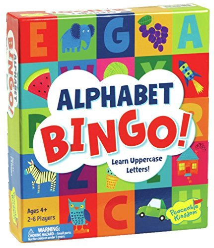 Peaceable Kingdom Alphabet Bingo! Letter Learning Game for Kids [並行輸入品] B07SFD5K41