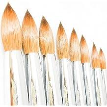 Professional Kolinsky Acrylic Nail Brush Powder Manicure Pedicure Wooden Handle Size # 10 (# 10)