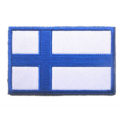 Finland Flag Patch Embroidered Military Tactical Morale Patches (Finland)