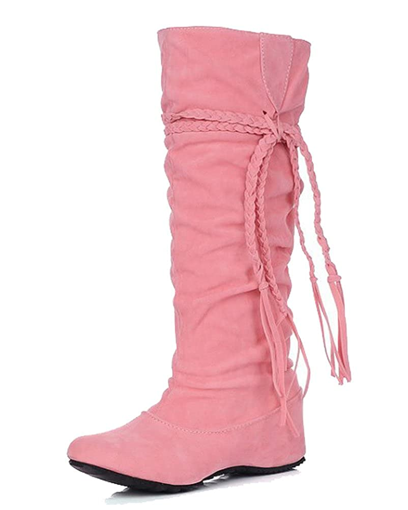 HiTime Bottes Bottes Indiennes Femme - Rose - HiTime B017KK1EPW Rose, 36.5 - f666692 - automatisms.space