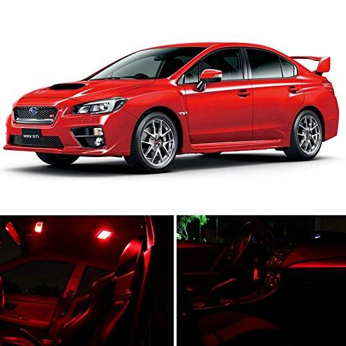 016 Subaru Impreza Wrx Sti Sedan Hatchback Red Premium LED Interior + Trunk + License Plate Lights Package Kit (6 Pieces) ()