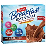 Carnation Breakfast Essentials Complete Nutritional Drink, No Sugar Added Packets, Rich Milk Chocolate, 8 count 0.7 oz