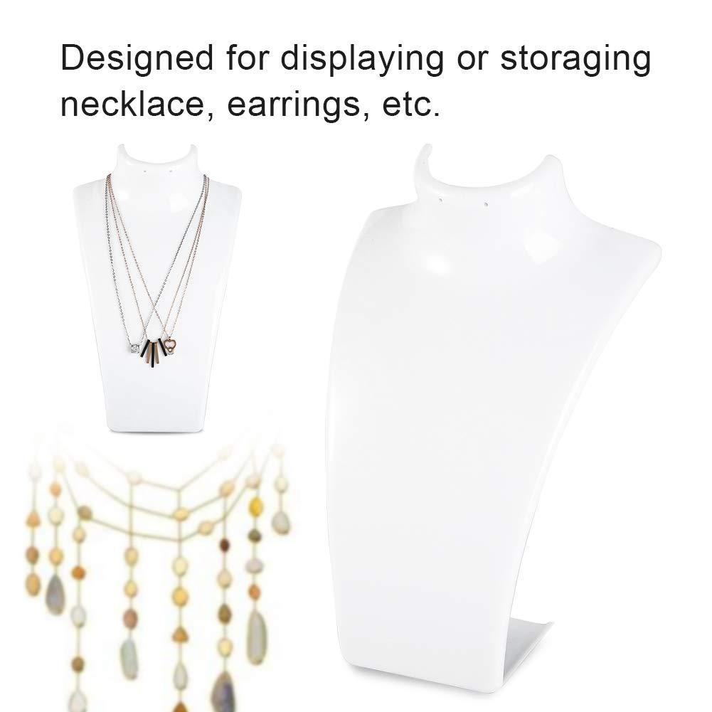 noir Pr/ésentoir de bijoux mannequin support de mannequin en plastique support de collier avec pendentif Pr/ésentoir de bijoux t/ête de mannequin