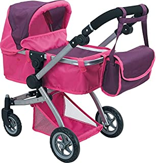Amazon.com: Doll Strollers Pro Deluxe Doll Stroller with Swiveling ...