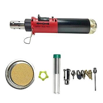 Soldador de gas 12 en 1 sin cable de soldadura pluma butano soplado soplador soldador hierro: Amazon.es: Bricolaje y herramientas
