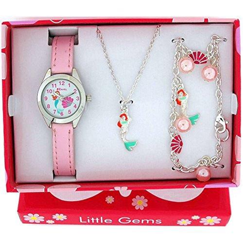 Ravel Little Gems Kids Mermaid Watch & Jewellery Gift Set For Girls R2223 from Ravel