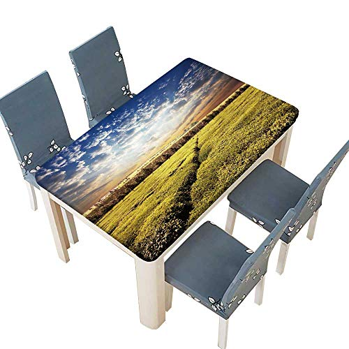PINAFORE Waterproof SpillProof Tablecloth Tea Plantation Tablecloth for