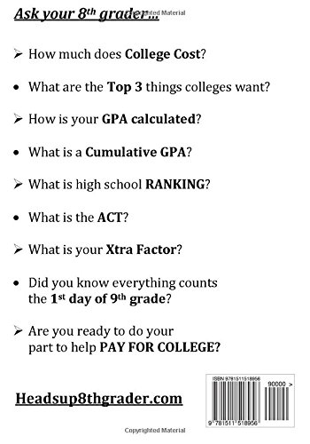 Heads Up 8th Grader!: Here Comes College: Jim Frank Mullen ...