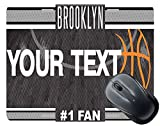 BleuReign Personalized Custom Name Basketball Team Brooklyn License Plate Square Mouse Pad