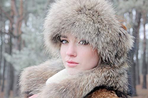 (Woman's Real Fur Headband Winter Hat (Racoon) )