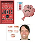 Jokes and Pranks for Kids Gift Bundle with Laugh Out Loud Jokes, Gnarly Teeth and Whoopee Cushion