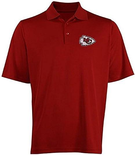 Majestic Athletic Kansas City Chiefs Moist Management Birdseye Mens Polo  Shirt Big   Tall Sizes ( 2cb9899d6