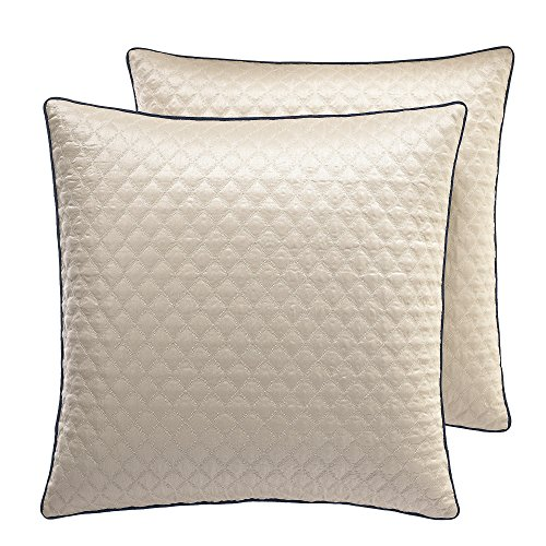 Croscill Imperial Euro Sham Champagne with Navy Trim 26