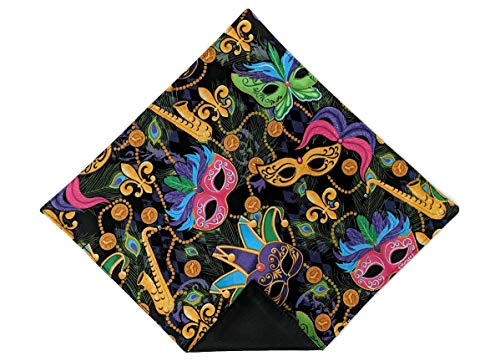 - Men's Pocket Square Fleur De Lis Mardi Gras Celebration Handkerchief (Mens) (Mens)