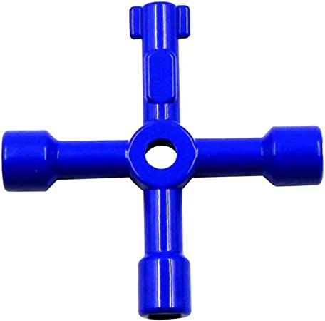 Valve Key Water Valve Triangle Wrench Multipurpose Tap Water Valve Triangle Cabinet Door Elevator Key Wrench Lock
