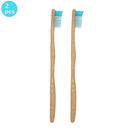 Cepillo de dientes de bambú para adultos ecológico, mango de bambú biodegradable y cerdas de