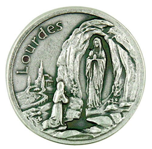(Lumen Mundi The Blessed Virgin Mary Our Lady of Lourdes Pocket Token with Prayer Back)