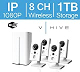 LaView V-Hive 1080P HD Wireless IP 8 Channel Surveillance System with Pre-Installed 1TB HDD and Four Wifi Indoor 1080P IP Security Cameras, LV-KNW9384FF2-T1