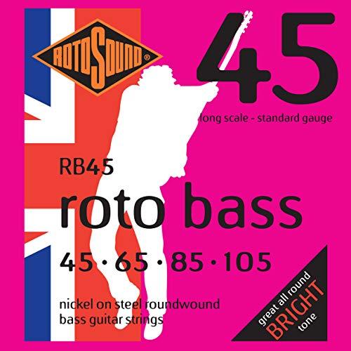 Rotosound Nickel Standard Light Gauge Roundwound Bass Strings (45 65 85 105)