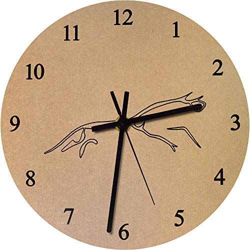 (Azeeda 275mm 'Uffington White Horse' Large Wooden Clock (CK00019260))