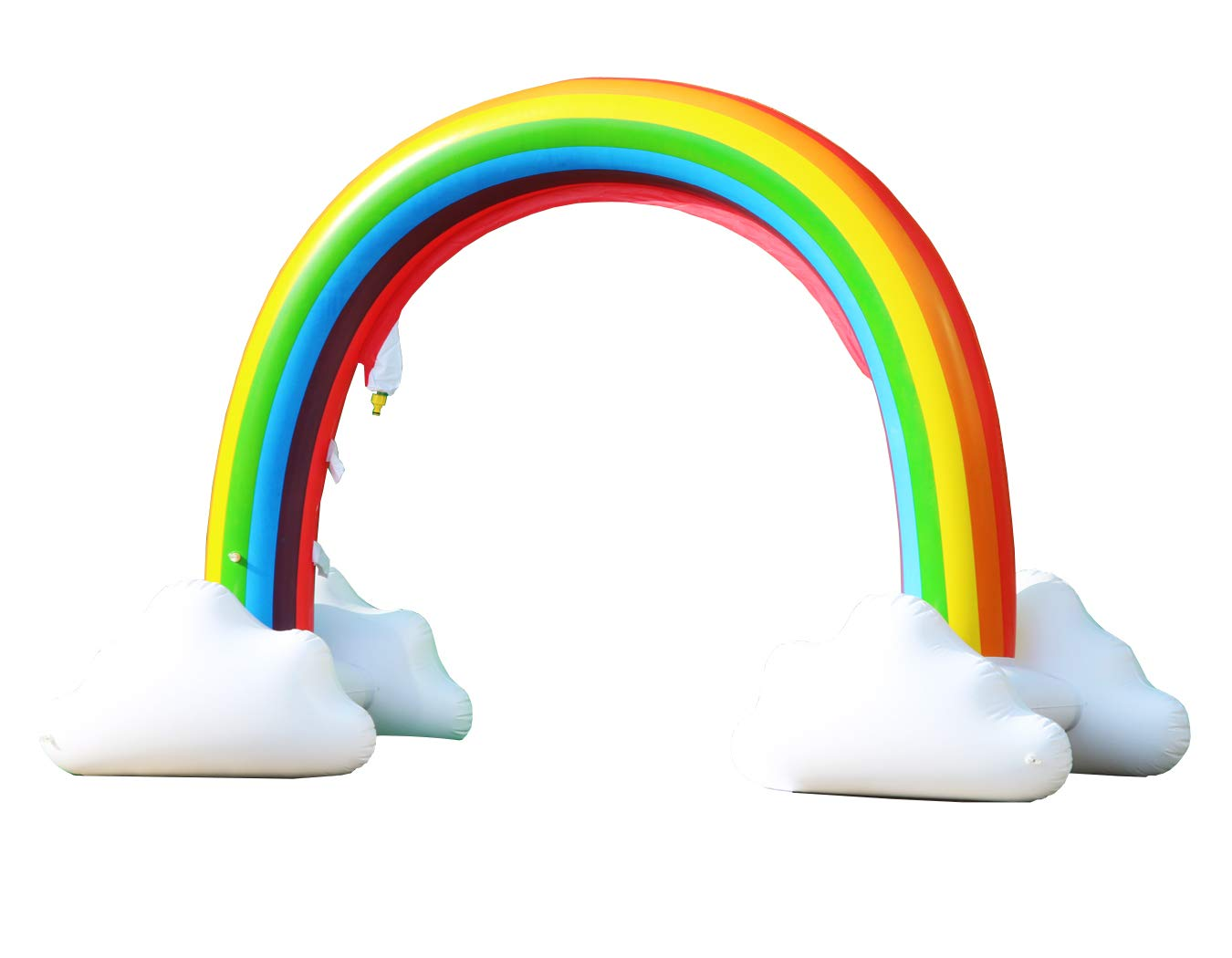 LANGXUN Giant Inflatable Rainbow Sprinkler Arch, Outdoor Summer Water Toys for Kids 4