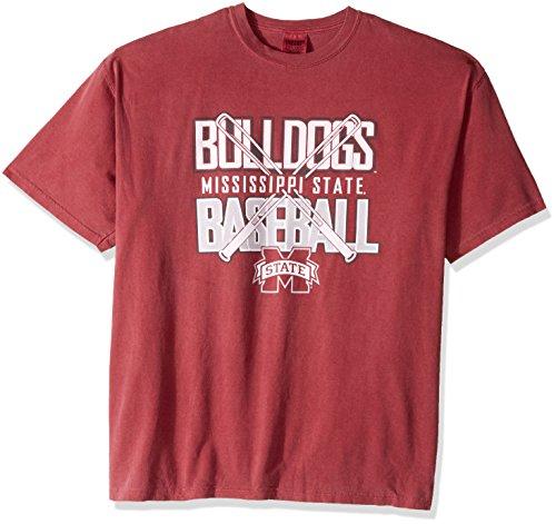 (NCAA Mississippi State Bulldogs Baseball Bats Short Sleeve Comfort Color T-Shirt, X-Large,Brick)