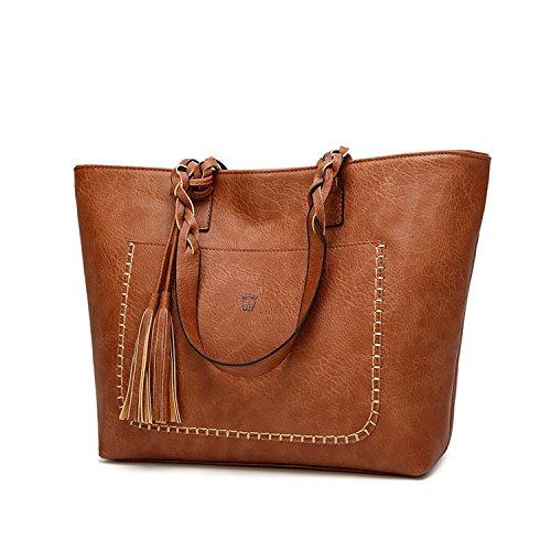 8fd1aa7320 Women s shoulder bag with tassel PU Vintage Tinkin elegant shopping bag for  women