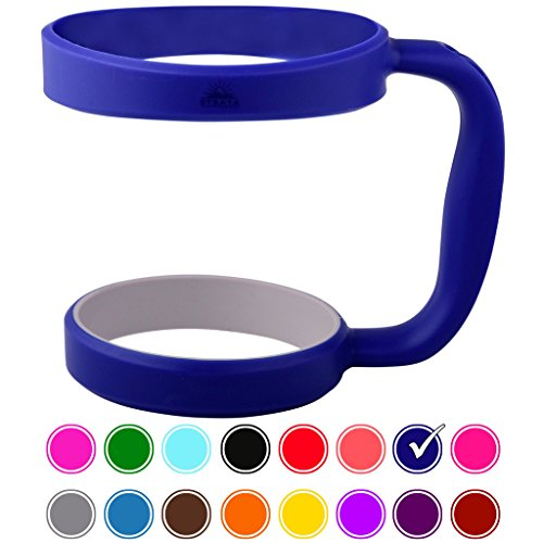 STRATA CUPS ROYAL BLUE 30oz Tumbler Handle For YETI tumbler, RTIC, OZARK trail tumbler, SIC, and Other Ramblers Cups - No Slip Grip - BPA FREE