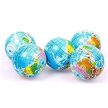 fashion useful World Atlas Geography Map Earth Globe Stress Relief Bouncy Foam Ball Kids Toy