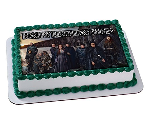 Game Of Thrones Quarter Sheet Edible Photo Birthday Cake Topper Personalized 1 4