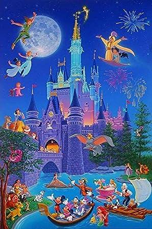 Disneyland castillo/Caricaturas - Foto Imán para Frigorífico: Amazon.es: Hogar