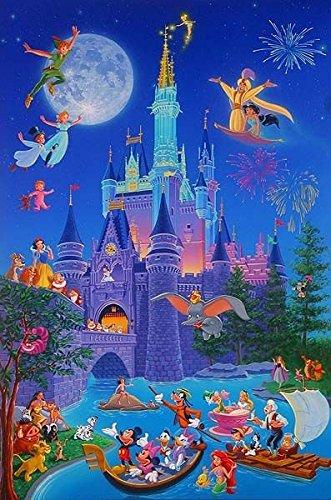 Disneyland castillo/Caricaturas - Foto Imán para Frigorífico ...